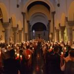 Nuit de Pâques dans l'église ste-Julienne